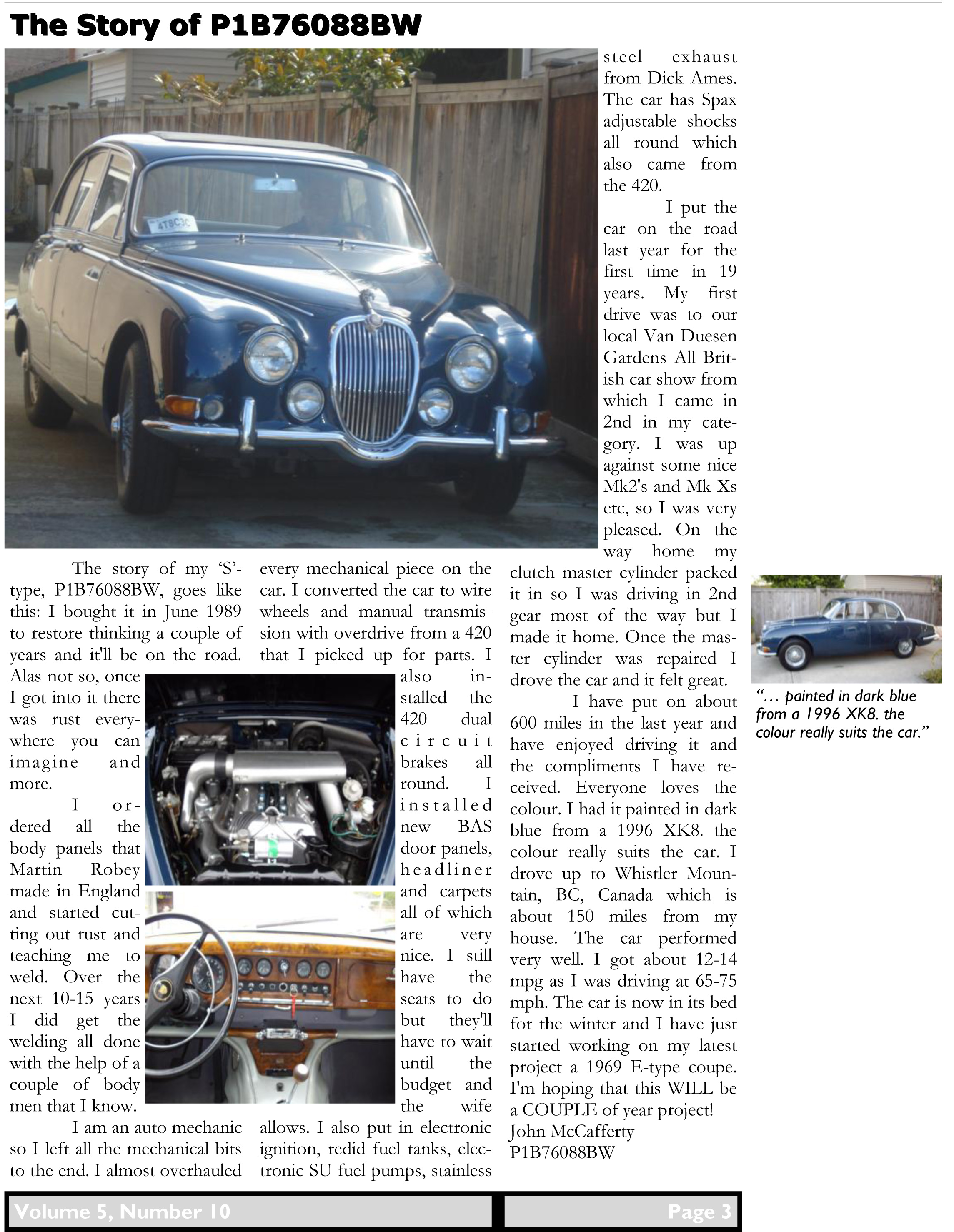 Jaguar 'S'-type Register